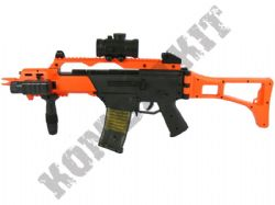 M85 G36 Style Electric Auto Airsoft BB Machine Gun Black and Orange